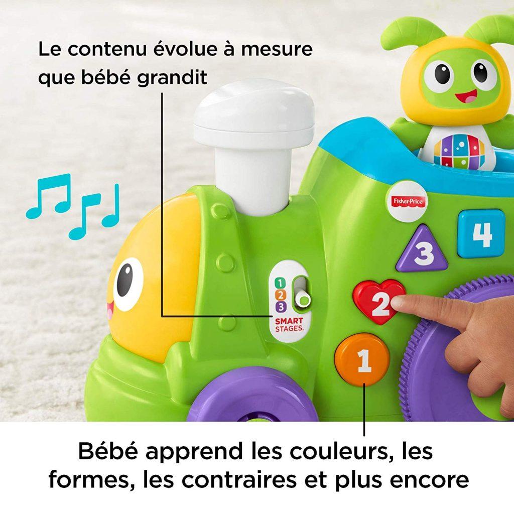 test robot enfant fisher-price bebo